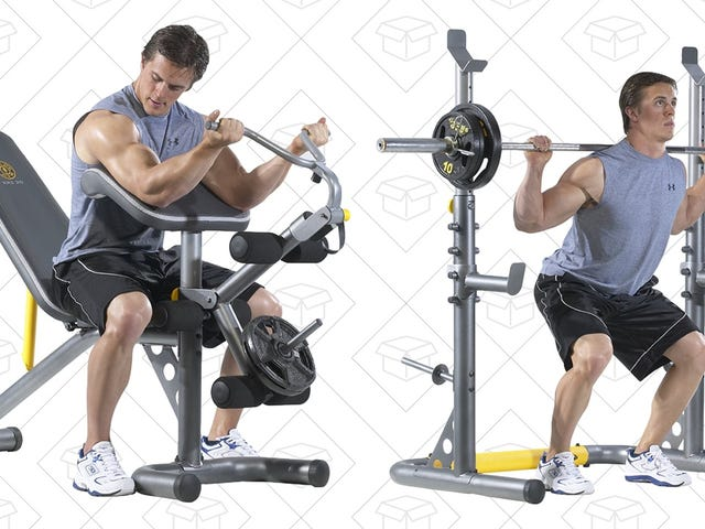 Outfit Your Home Gym With This Complete Weight Bench Set, Just $139 Shipped