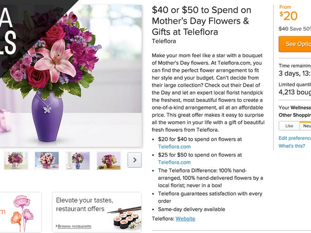 Send Your Mom $40 Worth of Flowers For $15, & More Mother's Day Deals