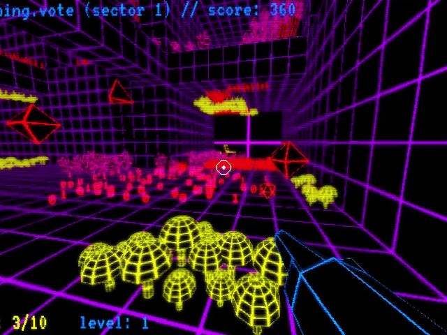 Tron-Like Shooting Game Makes The Blood 1's and 0's