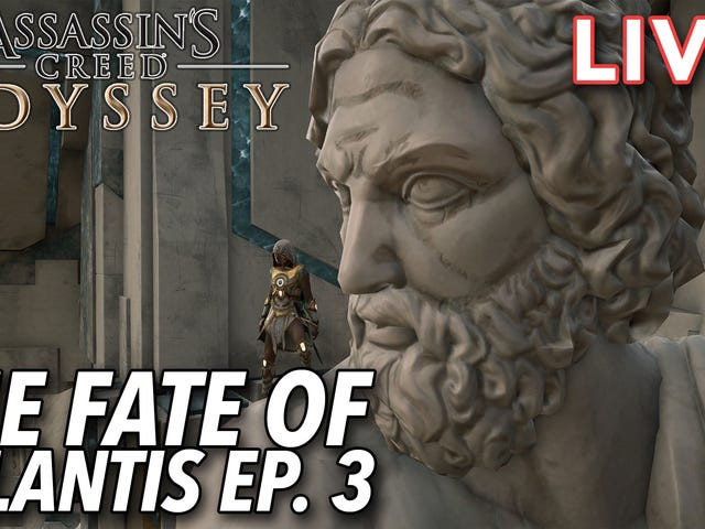Tim and Stephen are streaming the impressive new Assassin's Creed Odyssey DLC The Fate of Atlantis C
