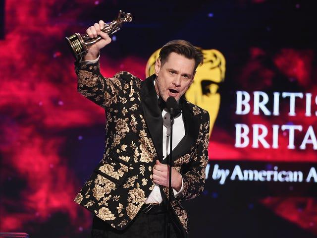 En el discurso de premios, Jim Carrey Jogs un recuerdo lejano de un mundo anterior al triunfo