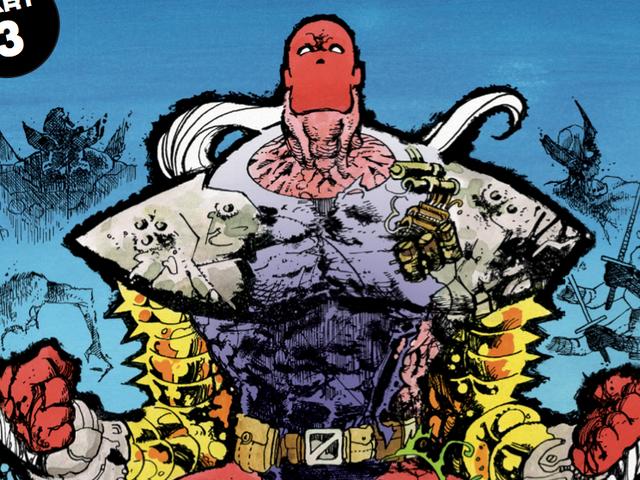 Michel Fiffe在这场Bloodstrike独家庆祝极致的90年代漫画 <em></em><em></em>