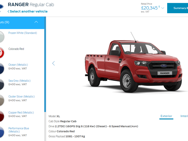 So you can get a Ford Ranger in.....Colorado Red?