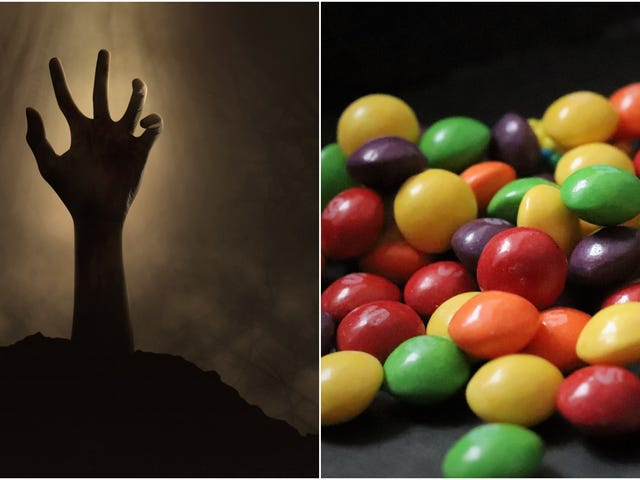 Zombie Skittles will let you taste the rainbow—and rotting human flesh