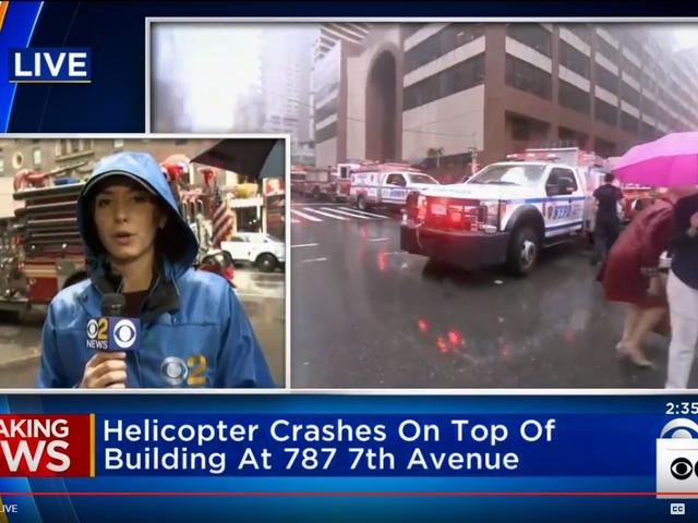 Uutiset Helicopter Crash kaupungissa New York City