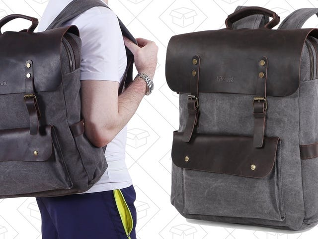 Carry Around Your Stuff In This $30 Canvas and Leather Backpack