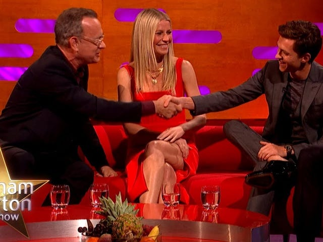 Tom Hanks imparts acting wisdom upon (and nearly breaks) Tom Holland