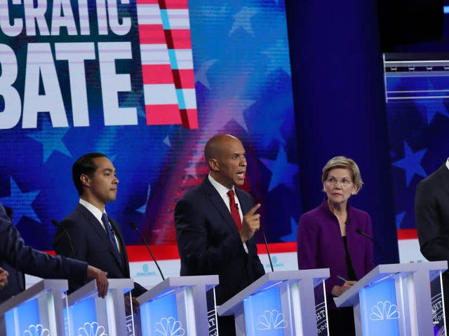 In First Debate, Democrats Say They're All for Change, but Argue Over How Far to Go and at What Cost