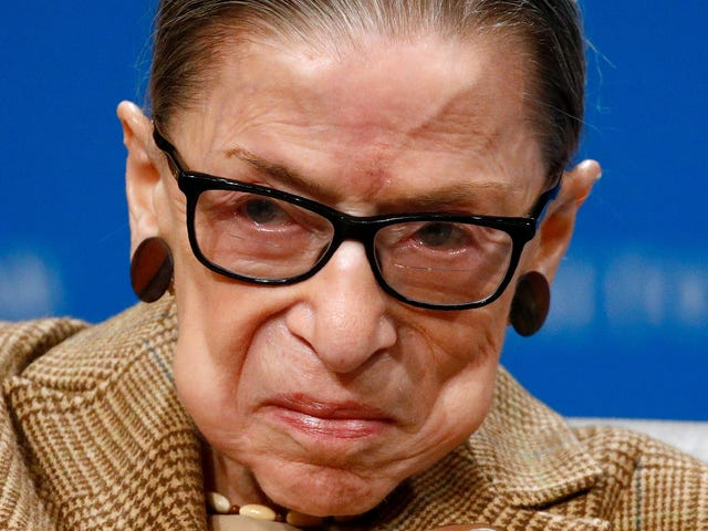 RBG Is Still Getting Swole at the Gym