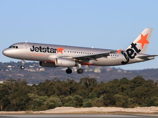 Airbus A320은 오클랜드에서 출발하는 동안 엔진에서 클립 보드를 섭취 한 후 반환됩니다.