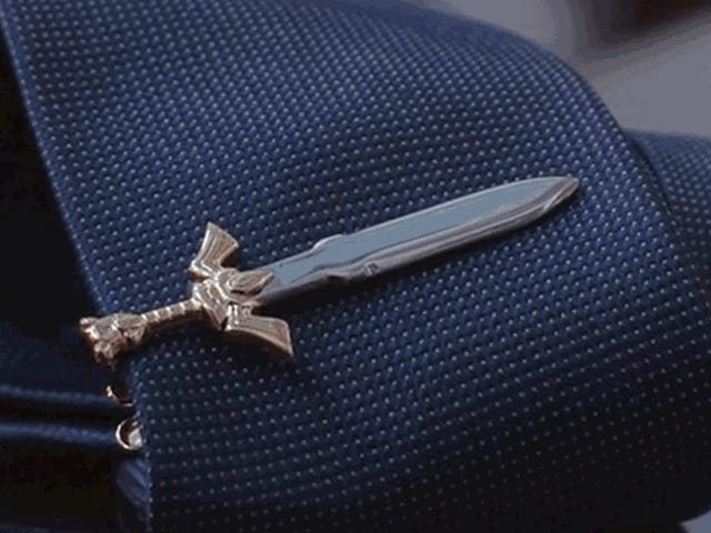 Slay Your Next Job Interview With a Legend of Zelda or Thundercats Tie Clip Sword
