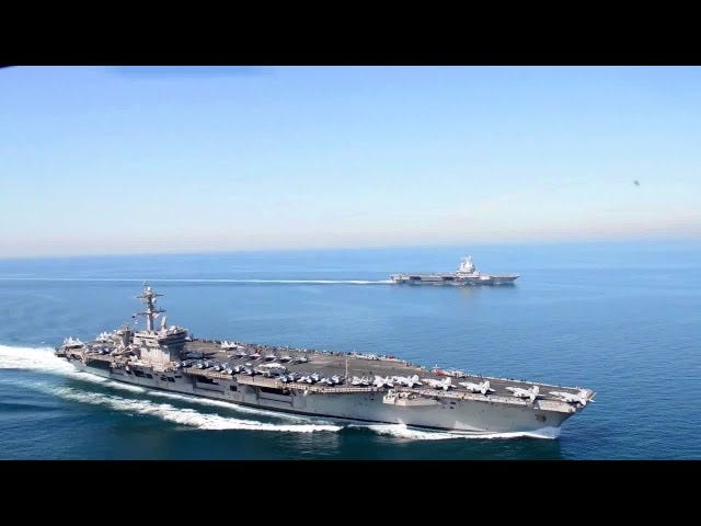 USS Carl Vinson i FS Charles de Gaulle: obok siebie