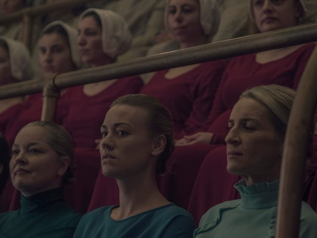 Janine speaks up as June goes quiet in another cheery hour of The Handmaid's Tale