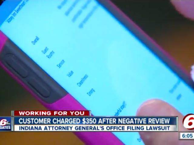 Ex-dona de hotel processada depois de cobrar US $ 350 por postar uma revisão negativa on-line
