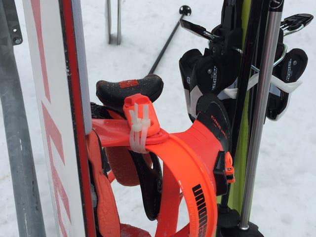 I did some ziptie snowboard repair: