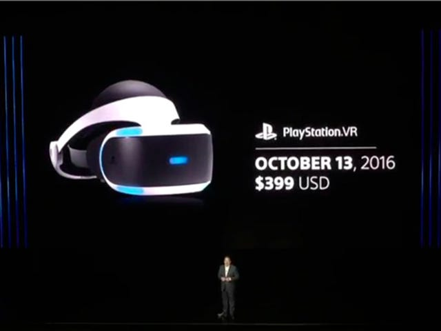 Launch Date and Price For Sony's New VR System Announced