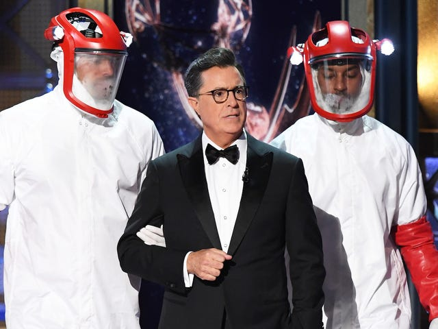 Stephen Colbert Was Exposed as a Westworld Host During the Emmys