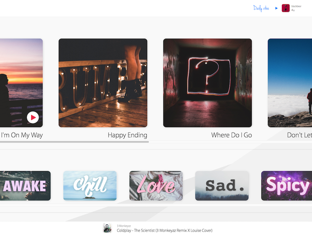 Vibesmood Has Plenty of Playlists to Pick From, Depending on Your Mood