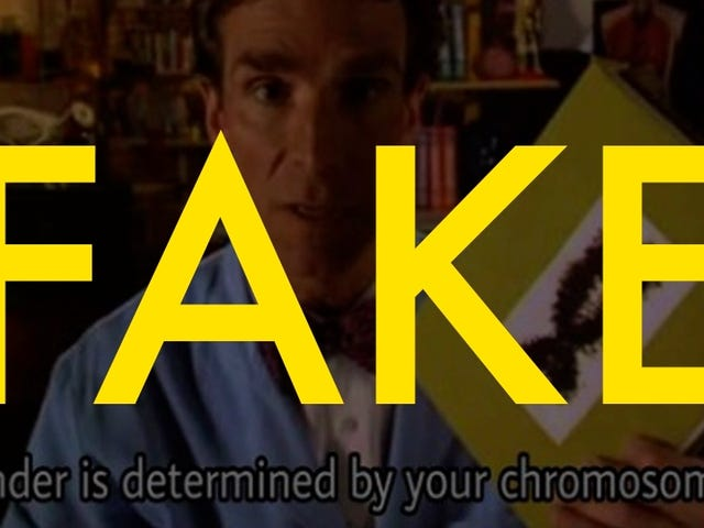 This Viral Photo of Bill Nye Talking About Gender is Completely Fake