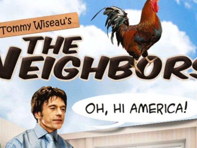 Tommy Wiseau interrompe una lunga chiacchierata sulla sua nuova sitcom chiamando una puntura del nostro intervistatore
