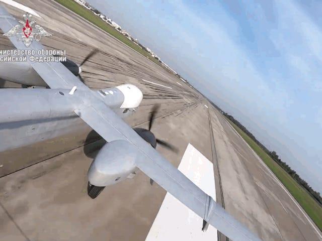Este es el primer vuelo del poderoso Altius-U, la respuesta rusa a los drones de guerra estadounidenses