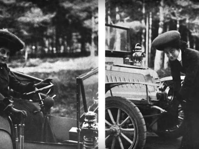 1 9 0 9 में महिलाओं के लिए ड्राइविंग सलाह: एक गन लाने के लिए मत भूलना