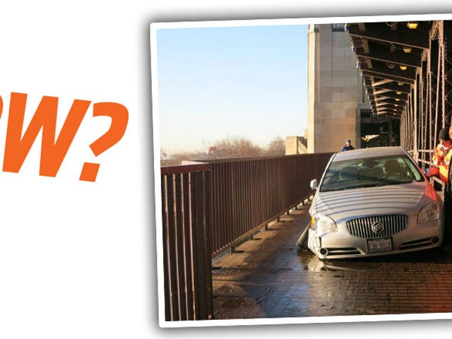 No One Has Any Idea How This Buick Ended Up On This Bridge Bike Path