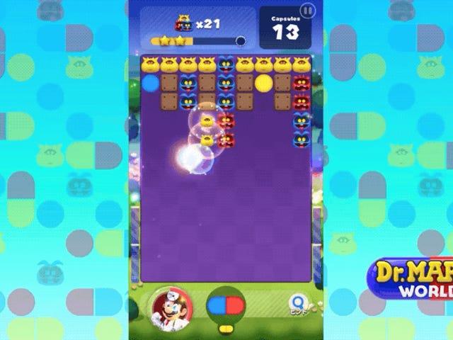 Dr. Mario World доступним, тому що ви можете скористатися Nintendo для iPhone і Android