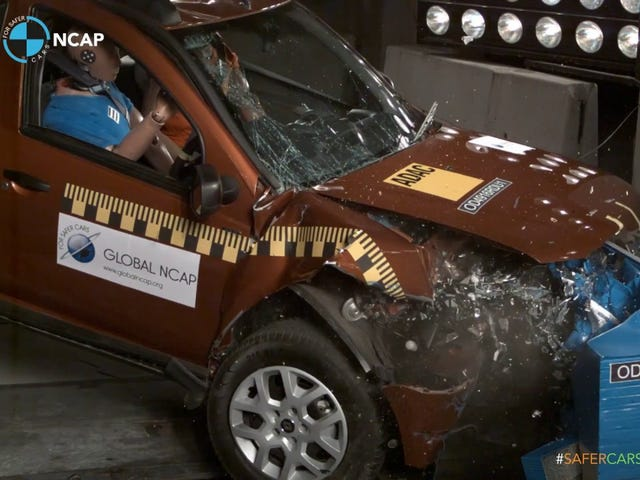 night oppo - Renault Duster gets 0-stars in India*