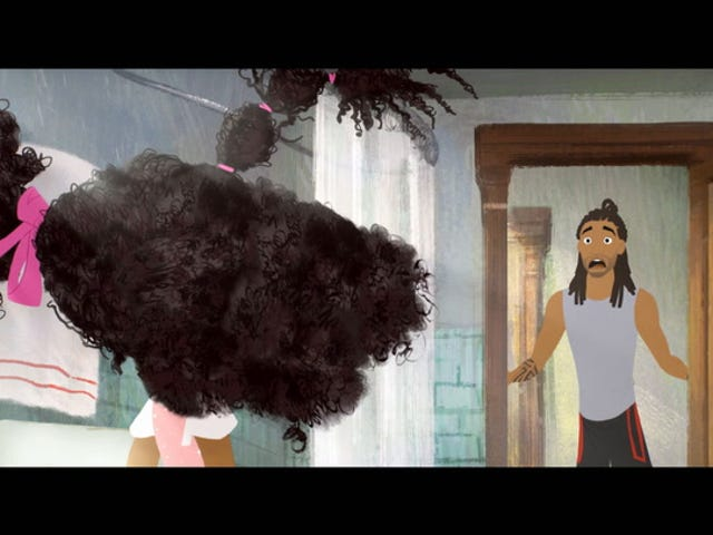 Watch: The Hair Struggle Without Mom Is Real in This Clip From Matthew Cherry's Hair Love