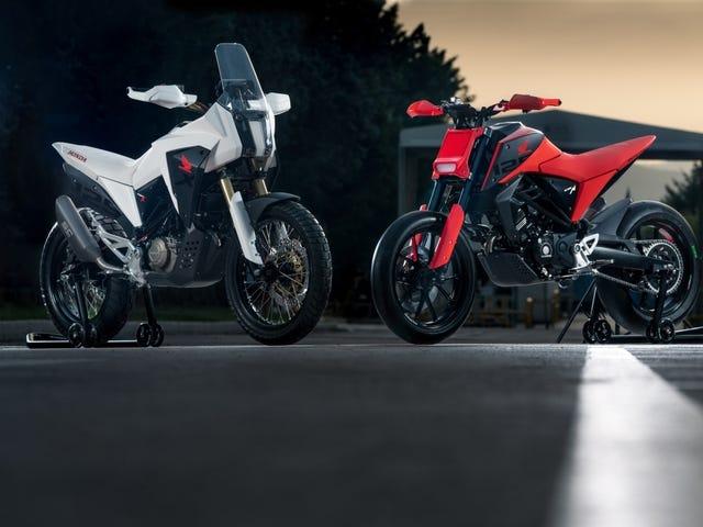 Las nuevas motos de Honda Retro-Future Small Bore Concept son muchísimo mejor en un paquete minúsculo