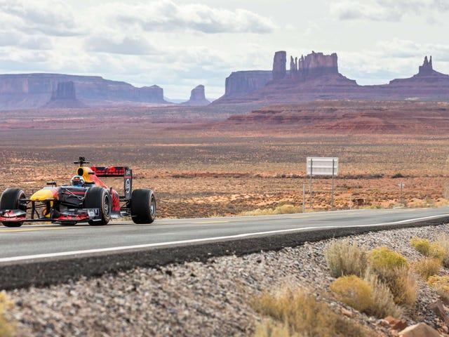 May Isang F1 Car 'Road Tripping' Sa Buong America
