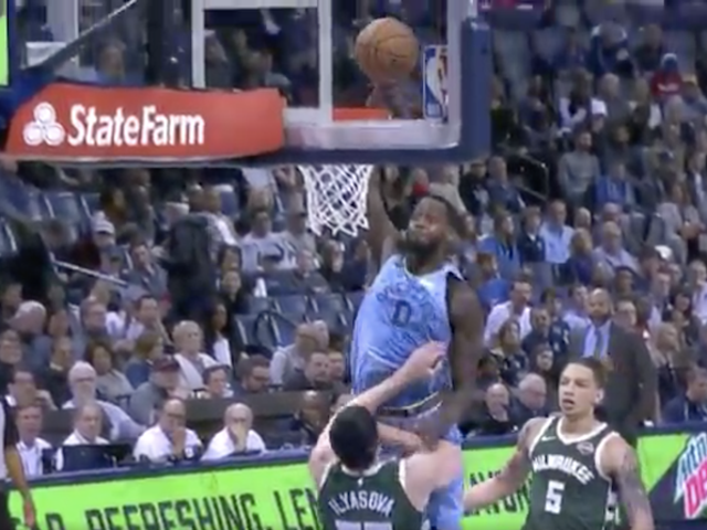JaMychal Green Wrecks Ersan Ilyasova And His Wasted Theatrics With A Thunderous Dunk