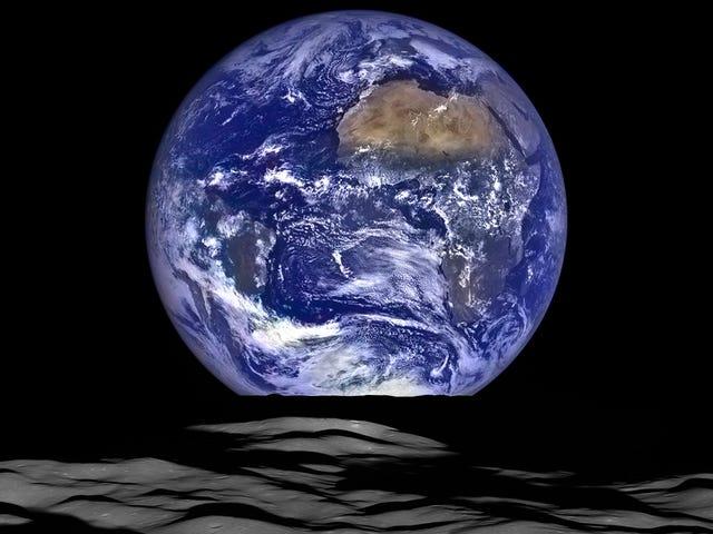 La NASA pubblica una immagine della Terra vista dalla Luna, e una wallpaper perfetta