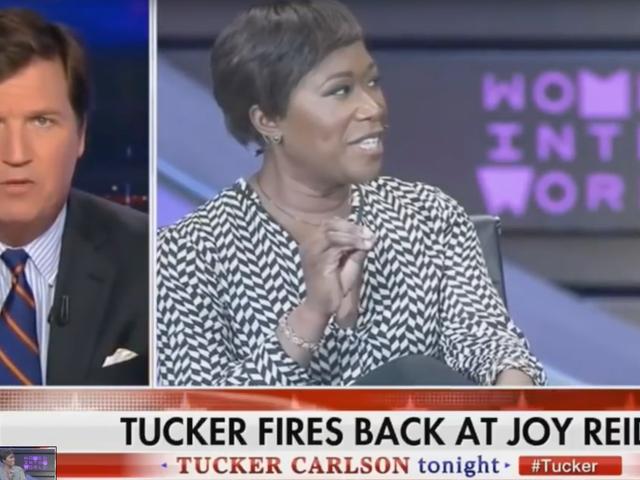Tucker Carlson Wants to Start a Race War So Bad, He's Now Beefing With Joy Reid