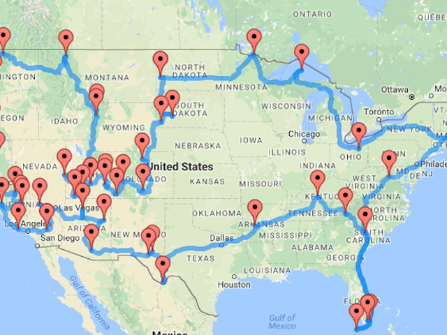 This Map Shows You the Best Road Trip Route Between National Parks