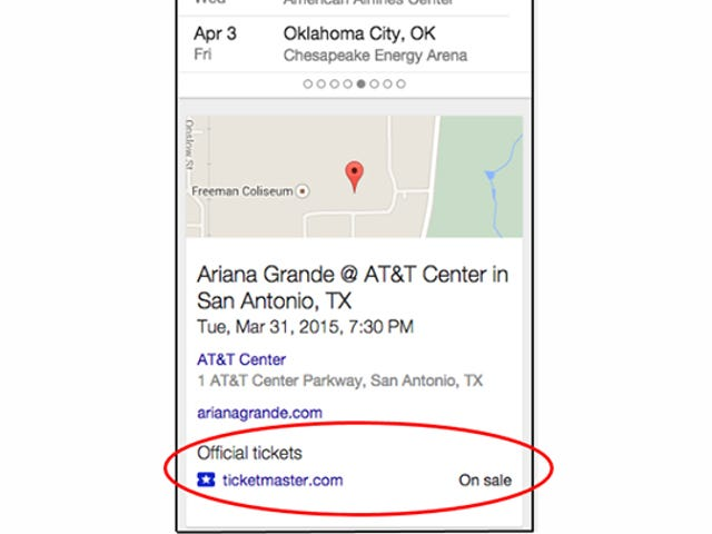 Google Wants To Sell You Concert Tickets Right On The Search Page