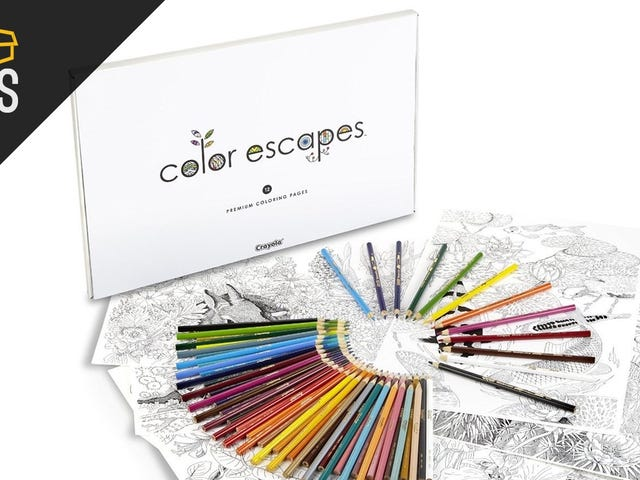 You Don't Need To Be an Artist to Enjoy These Discounted Adult Coloring Books