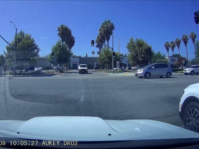 When you run a red light, at least do it quickly!