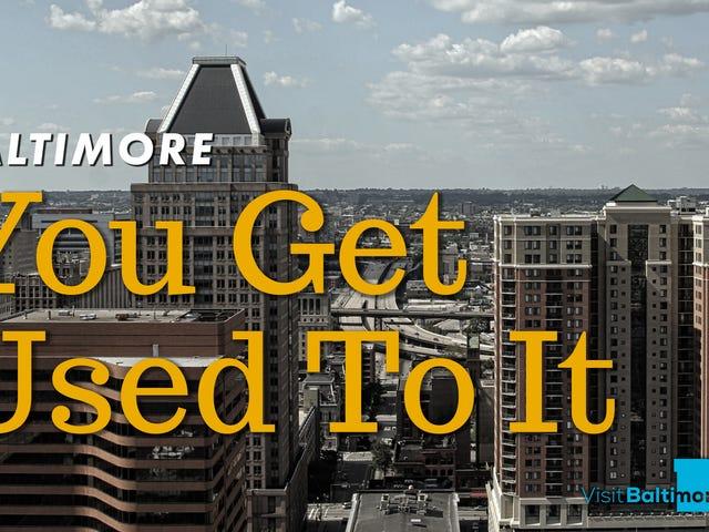 """Stadt Baltimore Mit der neuen Kampagne """"Sie gewöhnen sich daran"""" an junge Berufstätige <em></em>"""