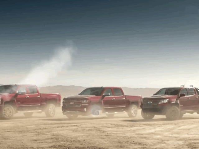 """Mahk está de vuelta para acabar con otro anuncio de camiones de Chevy """"Personas reales"""""""