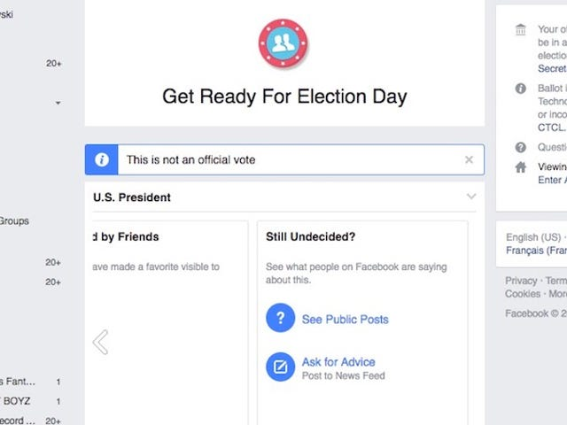 Facebook's Voting Guide Dishes Out a Personalized Voting Plan to Help You Learn About Your Ballot