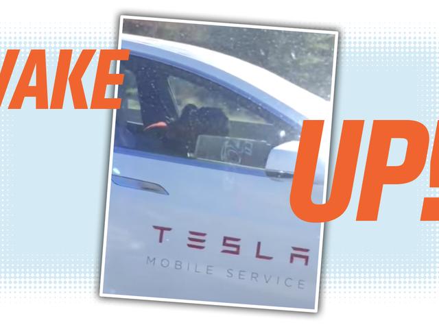 This Sure Looks Like A Tesla Employee Asleep While Using Autopilot