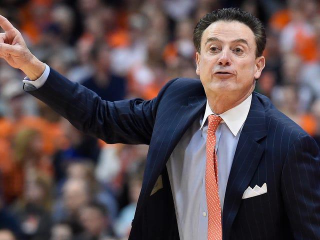 Louisville teller Rick Pitino, søker penger tapt fra NCAA brudd