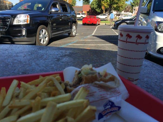Car & [half-eaten] Burger
