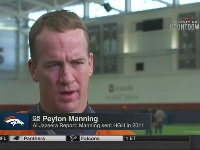 """Peyton Manning apparaît sur ESPN pour réfuter les allégations """"d'ordures"""" de HGH qui n'ont pas encore été diffusées [MISE À JOUR]"""