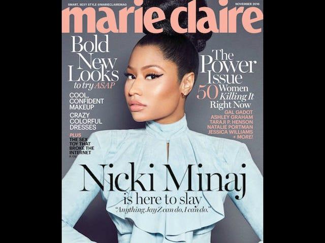 Nicki Minaj称裸体双重标准为黑色VS. 白人妇女'可悲和悲伤'