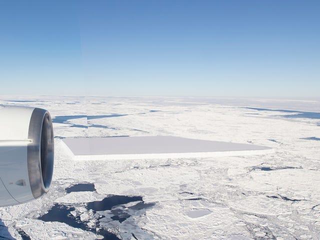 NASA brengt meer foto's van Freaky uit Rechthoekige ijsberg