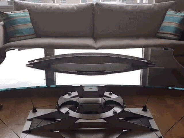 Este $ 30.000 Mesa de Café Flutua Como um Hoverboard