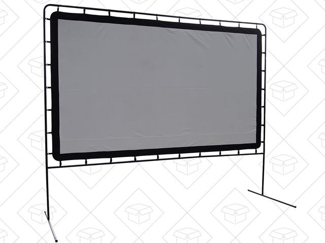 "Host the Perfect Outdoor Movie Night With This 144"" Projector Screen"